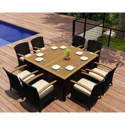 Harmonia Living Arbor 9 Piece Dining Set w/  Cushions; Canvas Natural
