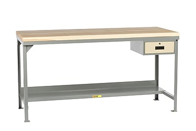 Little Giant USA Welded Steel Butcher Block Top Workbench; 37.75'' H x 72'' W x 30'' D