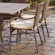 Panama Jack Key Biscayne Dining Arm Chair w/ cushion; Bay Brown