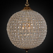 Kosas Home Allesandria 3-Light Crystal Pendant; 32'' H x 34'' W x 34'' D