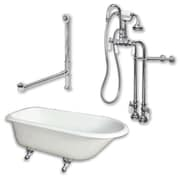Cambridge Plumbing 55'' L x 30'' W  Bathtub; Polished Chrome