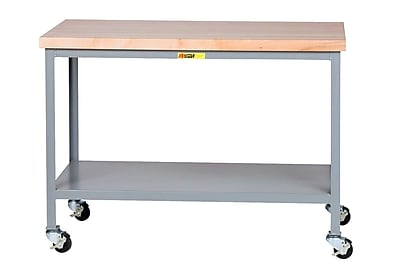 Little Giant USA Mobile Butcher Block Top Workbench; 35'' H x 36'' W x 24'' D