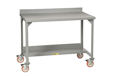 Little Giant USA Mobile Welded Stationary Workbench with Backstops; 36'' H x 72'' W x 28'' D