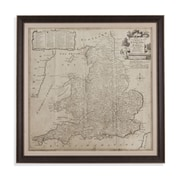 Bassett Mirror Road Map of England and Wales Framed Graphic Art