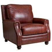 Abbyson Living Bel Air Hand Rubbed Leather Armchair
