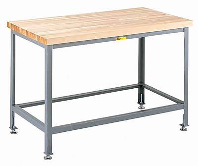 Little Giant USA Height Adjustable Butcher Block Top Workbench; 72'' W x 36'' D