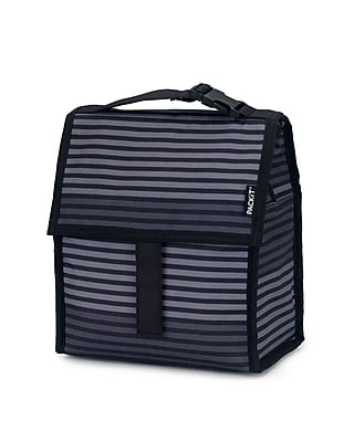 PACKiT Freezable Lunch Bag Gray Stripe PKT PC STR