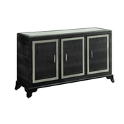 Powell Glamour 3 Door Cabinet; Black