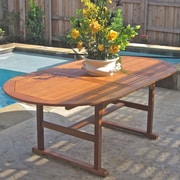 International Caravan Royal Tahiti Balau Dining Table