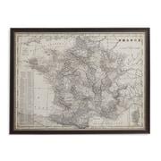 Bassett Mirror Antique Map of France Framed Vintage Advertisement
