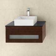 Ronbow Rebecca 31'' Wall Mount Bathroom Vanity Base Cabinet in Dark Cherry