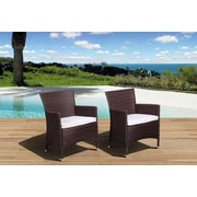 International Home Miami Atlantic Liberty Deluxe Arm Chair with Cushion (Set of 2) (Set of 2)