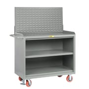 Little Giant USA 65'' x 53.5'' x 24'' Mobile Service Bench with Center Shelf and Louvered Panel