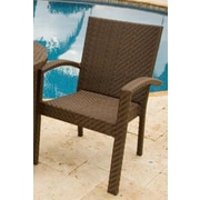 Hospitality Rattan Soho Stacking Dining Arm Chair; Rehau Java Brown