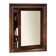 Ronbow Traditional Solid Wood Framed Medicine Cabinet in Colonial Cherry