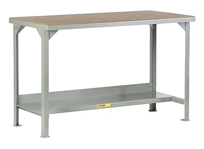 Little Giant USA Welded Steel Hardboard over Steel Top Workbench; 36'' H x 48'' W x 30'' D