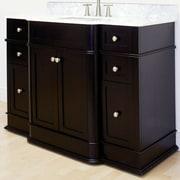 American Imaginations 49'' Traditional Birchwood-Veneer Vanity Base; Brushed Nickel