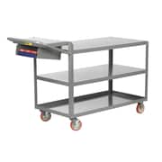 Little Giant USA 24'' x 52'' 3-Shelf Utility Cart with Writing Shelf and Storage Pocket