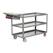 Little Giant USA 18'' x 48'' 3-Shelf Utility Cart w/ Writing Shelf and Storage Pocket