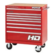Waterloo Industries Professional HD Series 36'' Wide 8 Drawer Bottom Cabinet; Red