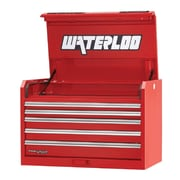 Waterloo Industries Professional HD Series 36''W 5-Drawer Top Chest; Red