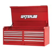 Waterloo Industries Professional HD Series 56''W 10-Drawer Top Chest; Red
