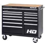 Waterloo Industries Professional HD Series 46'' Wide 12 Drawer Bottom Cabinet; Black