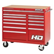 Waterloo Industries Professional HD Series 46'' Wide 12 Drawer Bottom Cabinet; Red