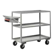 Little Giant USA 24'' x 64'' Multi-Shelf Utility Cart with Writing Shelf and Storage Pocket