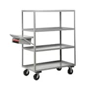 Little Giant USA 30'' x 76'' Multi-Shelf Utility Cart w/ Writing Shelf and Storage Pocket