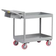 Little Giant USA 24'' x 41.5'' Deep Shelf Steel Utility Cart with Writing Shelf and Storage Pocket