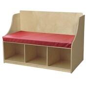 Wood Designs Reading Wood Storage Bench