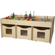 Wood Designs Activity Island 44'' x 18'' Rectangular Classroom Table