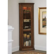 Liberty Furniture Corner Curio Cabinet; Rustic Oak