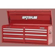 Waterloo Industries Professional Series 51.13''W 8-Drawer Top Chest; Red