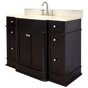 American Imaginations 50'' Single Traditional Birchwood-Veneer Bathroom Vanity Set; Chrome