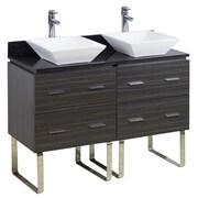 American Imaginations 48'' Double Modern Bathroom Vanity Set; Brushed Nickel