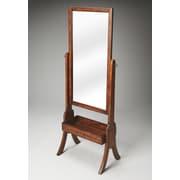 Butler Vista Cheval Mirror; Antique Brass