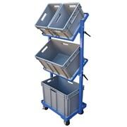Vestil 200 lbs 1 Shelf 3 Basket Multi-Tier Cart