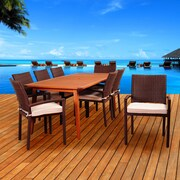International Home Miami Amazonia Whitewater 9 Piece Indoor/Outdoor Dining Set with Cushions