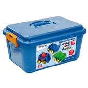 "Miniland Educational School Set Minimobil 4 1/4"" - 10 units / Container, Multicolor (27487)"