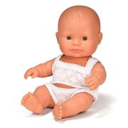 "Miniland Educational Newborn Baby Doll Caucasian Boy ( 8 1/4""), (31121)"