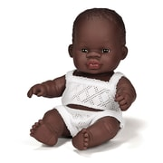 "Miniland Educational Newborn Baby Doll African Boy (8 1/4""), (31123)"
