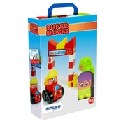 Miniland Educational Super Blocks - Fire Station, Multicolor (32352)