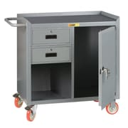 Little Giant USA 38'' x 41.5'' x 24'' Mobile Bench Cabinet with 1 Door and Storage Drawer