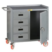 Little Giant USA 38''H  x 41.5'' W x 24'' D Mobile Bench Cabinet with 1 Door and Storage Drawers