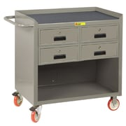 Little Giant USA 38'' H x 41.5'' W x 24'' D Mobile Bench Cabinet with Storage Drawers