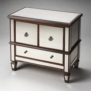 Butler Celeste 3 Drawer Console Cabinet; Mirror and Mahogany