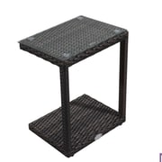 Rattan Outdoor Furniture Brighton Side Table; Brown