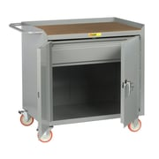 Little Giant USA 38'' x 41.5'' x 24'' Mobile Bench Cabinet with Locking Doors and Heavy-Duty Drawer